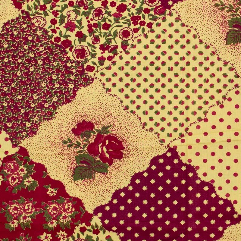 Fernando Maluhy - Patch Floral Vermelho/Amarelo - 50cm X150cm