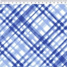 Fernando Maluhy - Põe Na Mesa Decor - Xadrez Enviesado Azul - 50cm X150cm