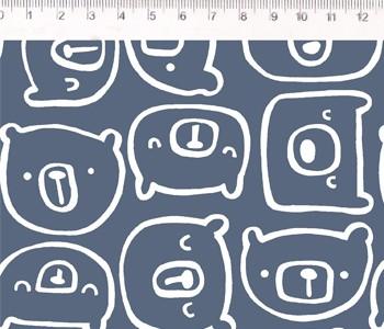 Fernando Maluhy - Coleção Inspiração Escandinávia - Urso Azul - 50cm X150cm