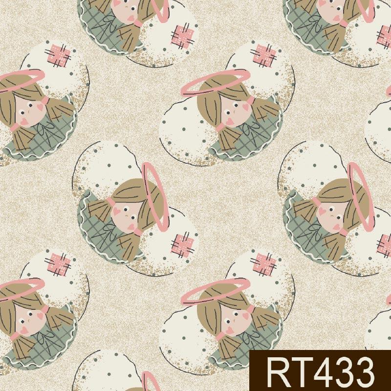Fuxicos e Fricotes - Coleção Angels - Rostos Anjinhos Pastel - 50cm X150cm