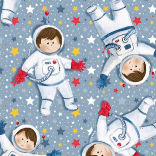 Fuxicos e Fricotes Coleção Astronautas - Mini Astronautas - 50cm X150cm