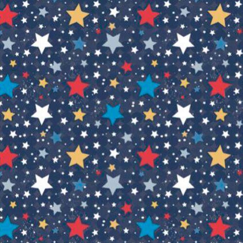 Fuxicos e Fricotes Coleção Astronautas - Mini Estrelinhas - 50cm X150cm