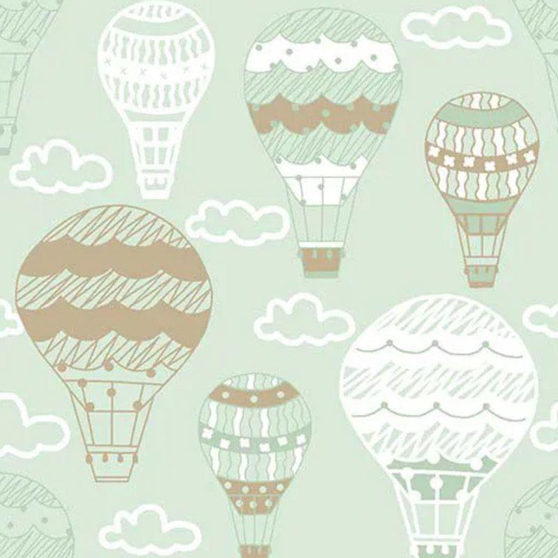 Fuxicos e Fricotes - Coleção Bichinhos Baby -  Balões Menta - 50cm X150cm