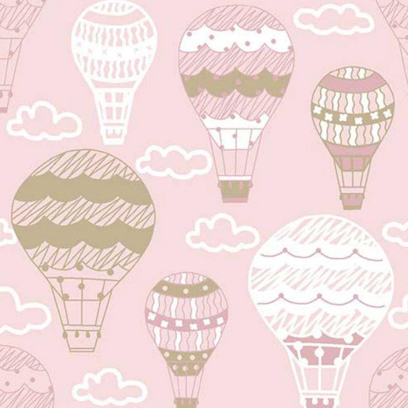 Fuxicos e Fricotes - Coleção Bichinhos Baby -  Balões Rosa - 50cm X150cm