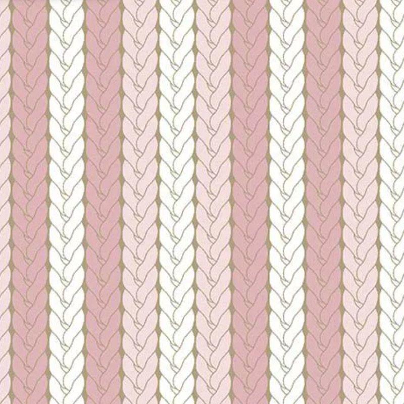 Fuxicos e Fricotes - Coleção Bichinhos Baby -  Tricô Rosa - 50cm X150cm