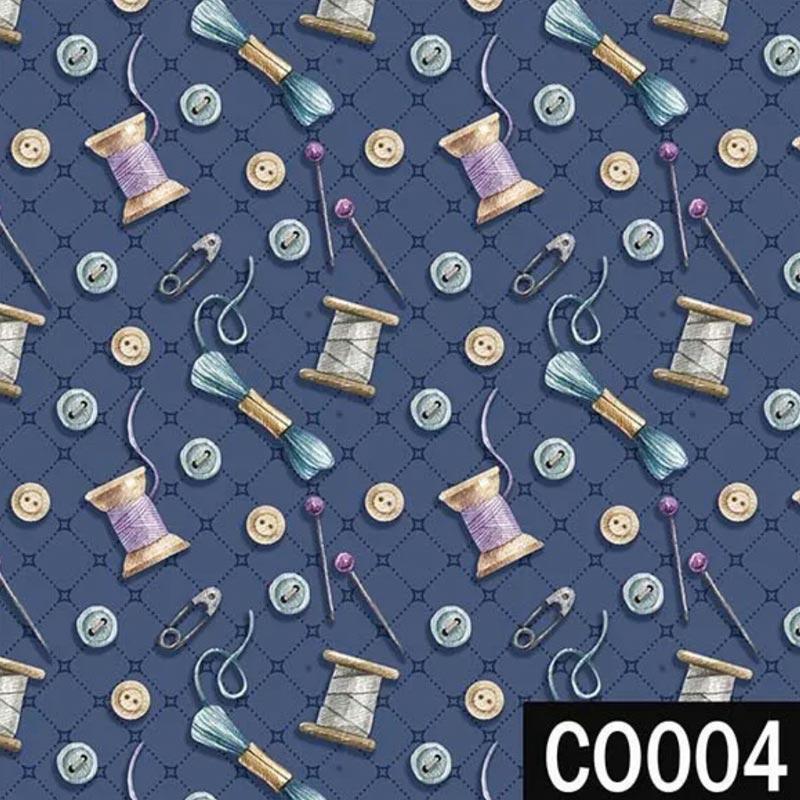 Fuxicos e Fricotes Coleção Costura Country - Botões Marinho - 50cm x 150cm