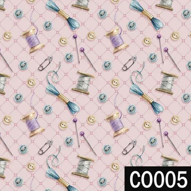 Fuxicos e Fricotes Coleção Costura Country - Botões Rosê - 50cm x 150cm