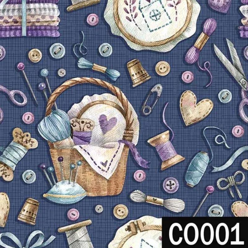 Fuxicos e Fricotes Coleção Costura Country - Costura Marinho - 50cm x 150cm