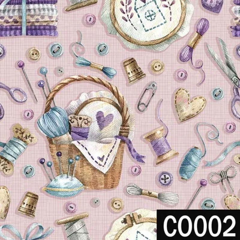 Fuxicos e Fricotes Coleção Costura Country - Costura Rosê - 50cm x 150cm