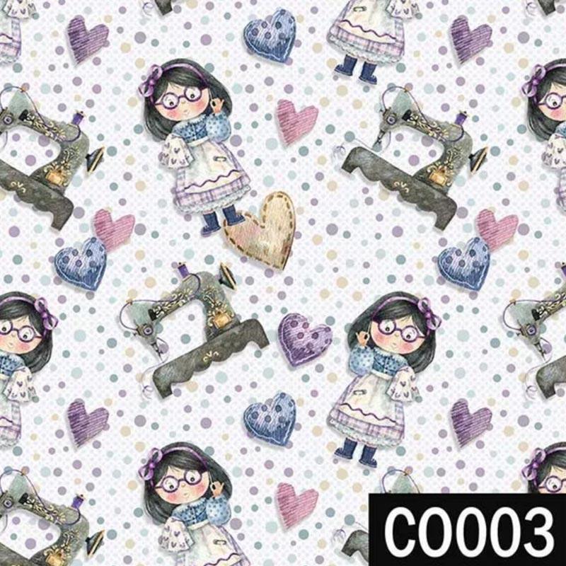Fuxicos e Fricotes Coleção Costura Country - Mini Costureiras - 50cm x 150cm