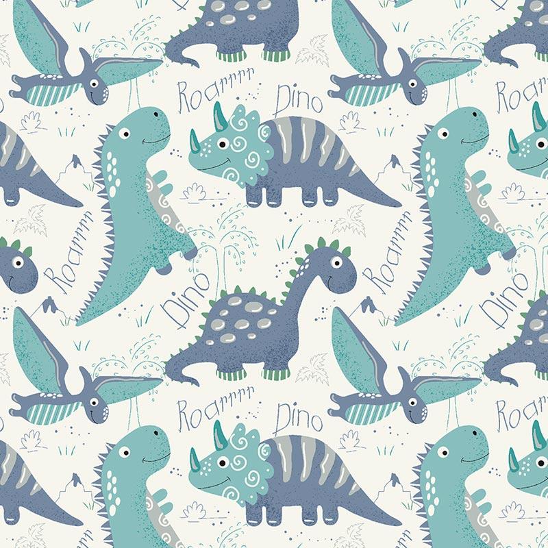Fuxicos e Fricotes - Coleção Dinos - Dinos Ocean - 50cm X150cm