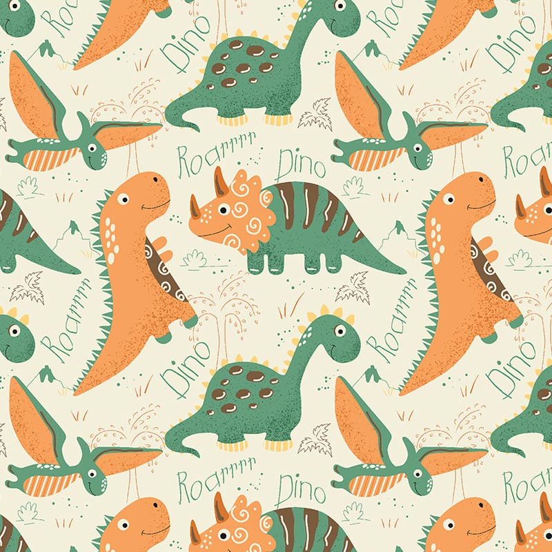 Fuxicos e Fricotes - Coleção Dinos - Dinos Terra - 50cm X150cm