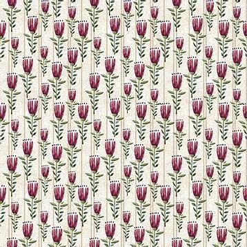 Fuxicos e Fricotes Coleção Elegance - Mini Floral Elegance Cru - 50cm X150cm