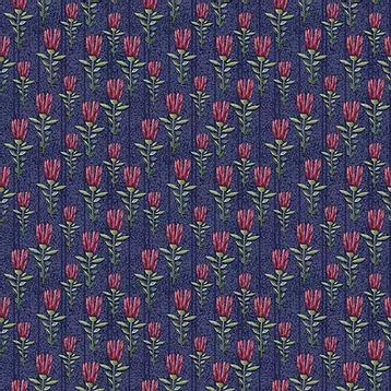 Fuxicos e Fricotes Coleção Elegance - Mini Floral Elegance Marinho - 50cm X150cm