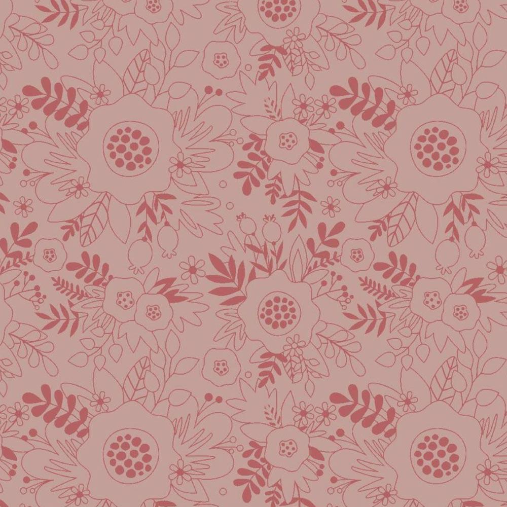 Fuxicos e Fricotes Coleção Florisbella Estampa Básico Florisbella Rosa 50cmX150cm