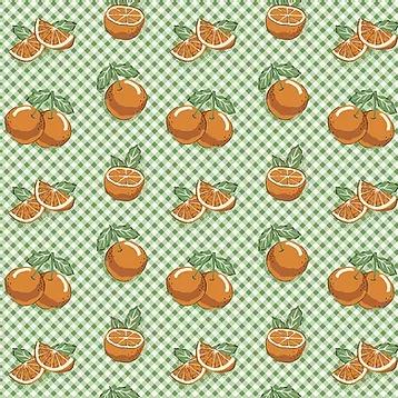 Fuxicos e Fricotes - Coleção Frutas - Mini Laranjas - 50cm X150cm