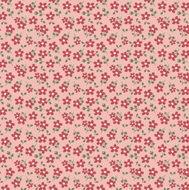 Fuxicos e Fricotes Coleção Garden - Mini Floral Garden Rosa - 50cm X150cm