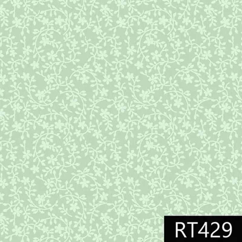 Fuxicos e Fricotes - Coleção Libélulas - Raminhos Verde Água - 50cm X150cm