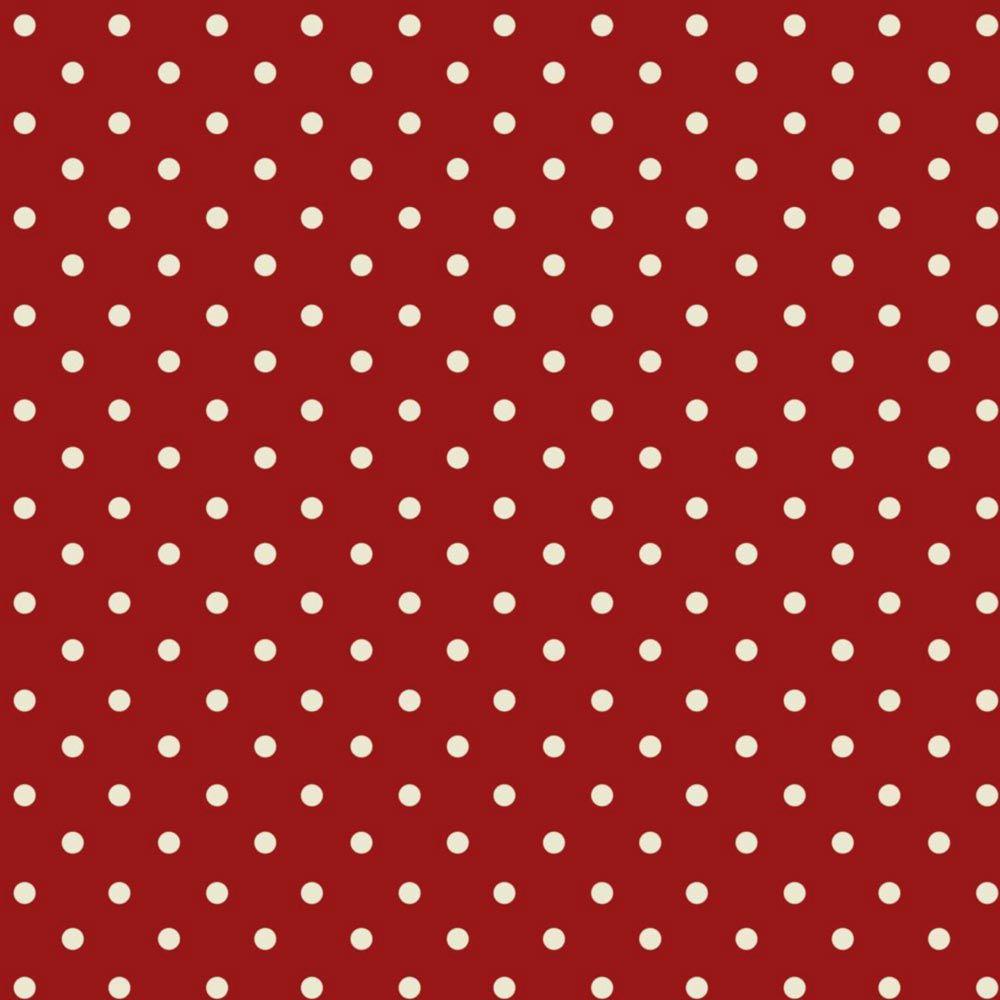 Fuxicos e Fricotes Coleção Maçã Com Mel - Poá Vermelho - 50cm X150cm