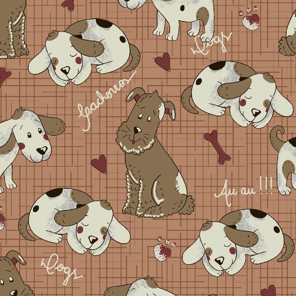 Fuxicos e Fricotes Coleção Melhores Amigos - Cachorrinhos Country - 50cm X150cm