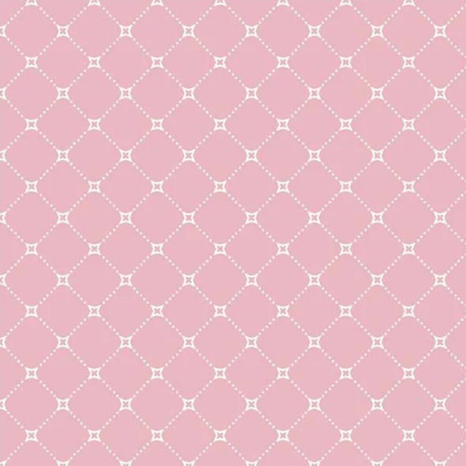 Fuxicos e Fricotes Coleção Paris - Básico Paris Rosa - 50cm X150cm