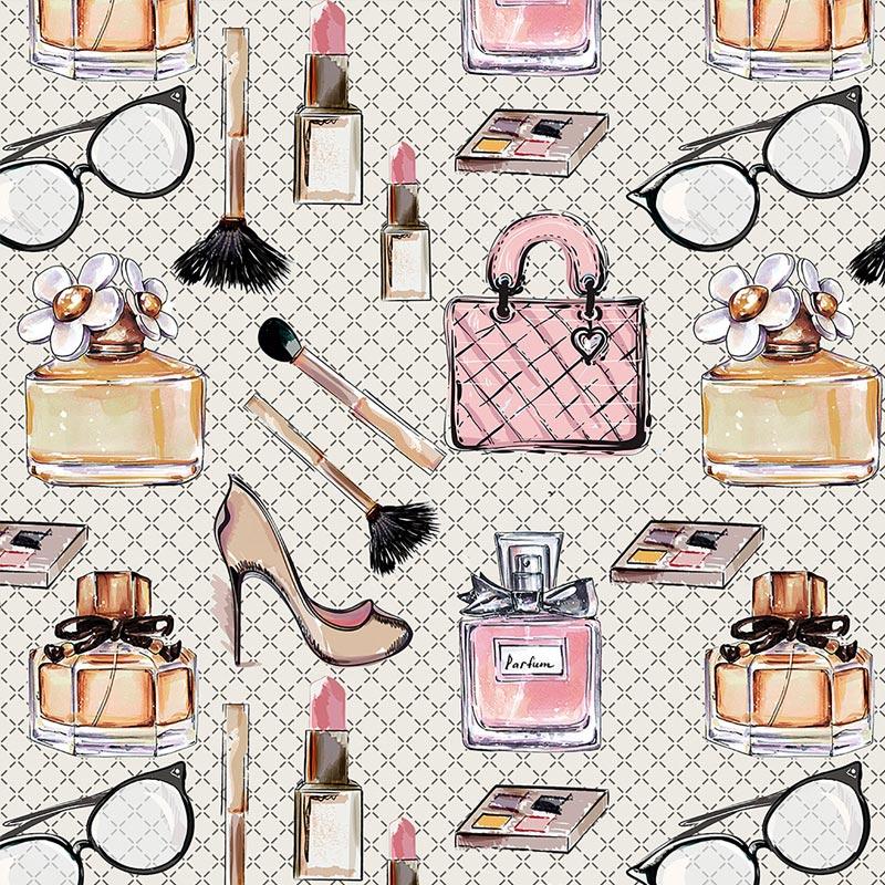 Fuxicos e Fricotes Coleção Perfumes e Maquiagens - Acessórios Femininos - 50cm X150cm