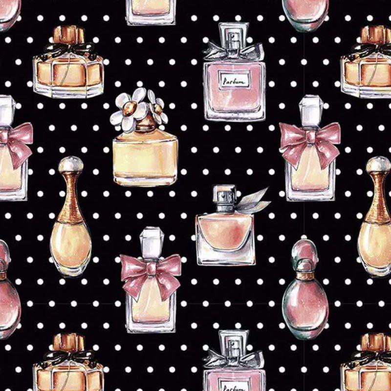 Fuxicos e Fricotes Coleção Perfumes e Maquiagens - Perfumes - 50cm X150cm