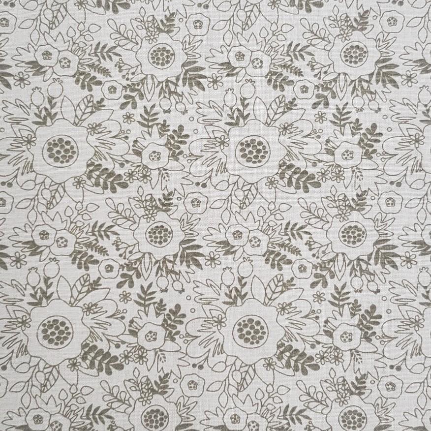 Fuxicos e Fricotes  - Floral TomTom Mostarda - 50cm X150cm
