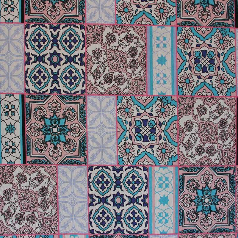 Tecido Gorgurão - Mandalas - 50cm x 140cm