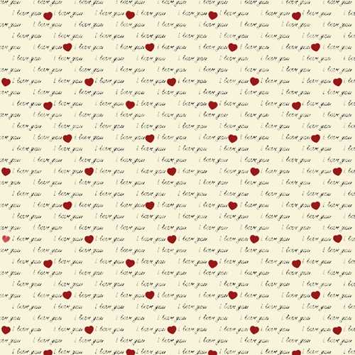 Kit 3 Estampas Fabricart - I Love You - (50cm x 150cm por estampa)