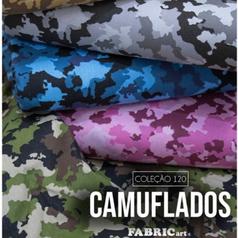 Kit 4 Estampas Fabricart - Camuflado - (50cm x 150cm por estampa)