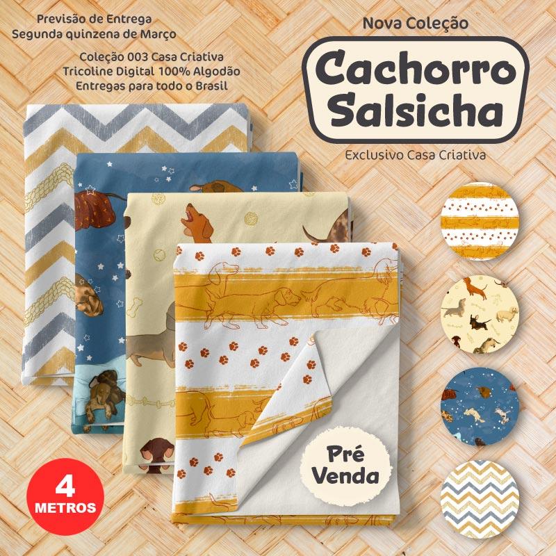 Kit Exclusivo Casa Criativa - Coleção Cachorro Salsicha - 100cm x 150cm (Cada Estampa)