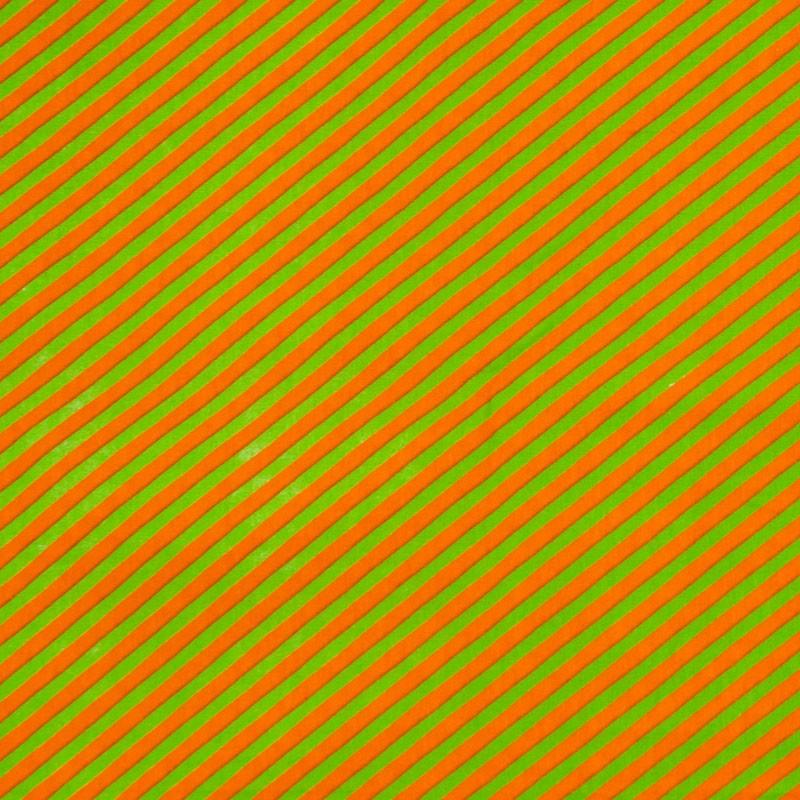 Patch Brasil - Listrado Laranja/Verde - 50cm X150cm