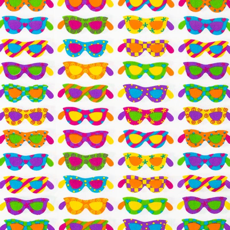 Patch Brasil - Óculos Colorido Com Fundo Branco - 50cm X150cm