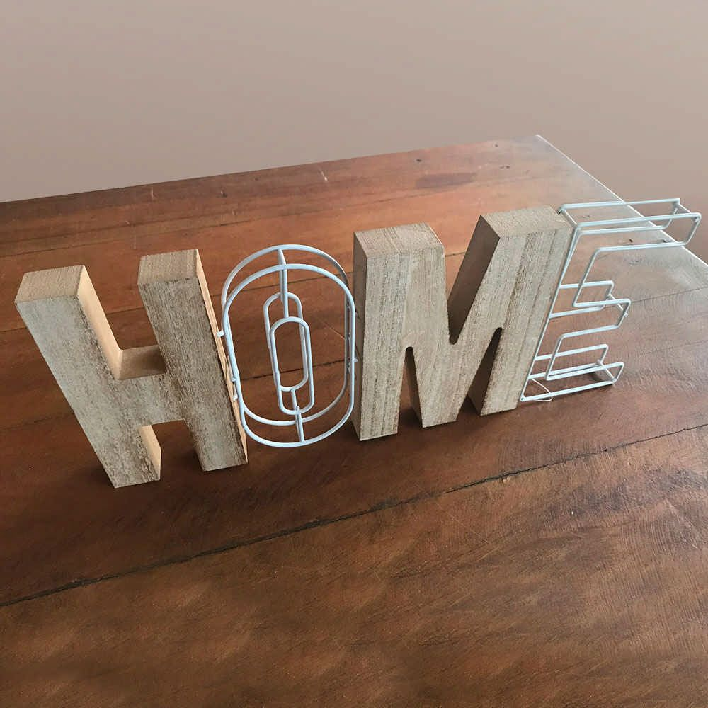 Placa decorativa Home