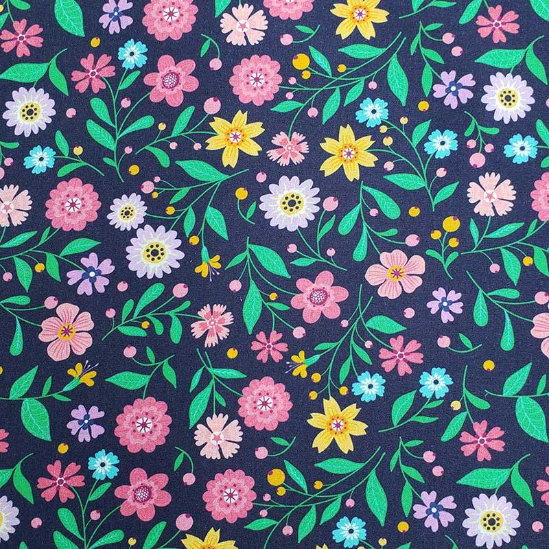 Primor - Floral Fundo Marinho Digital - 50cm X150cm