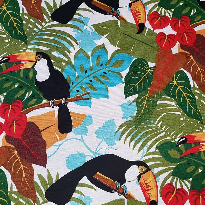 Tecido Impermeável Fiama - Tucanos - 50cm x 140cm