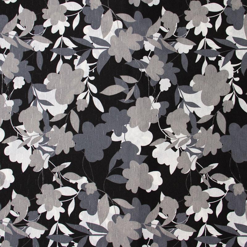 Tecido Gorgurinho - Folhas em Tons de Cinza - 50cm x 150cm