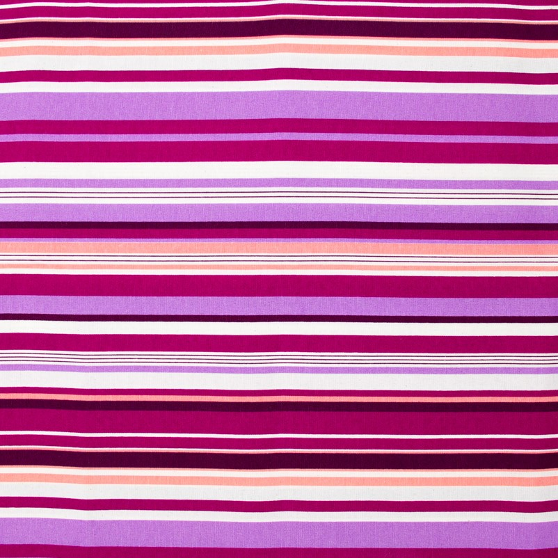 Tecido Gorgurão - Listrado Roxo Rosa e Vinho - 50cm x 140cm