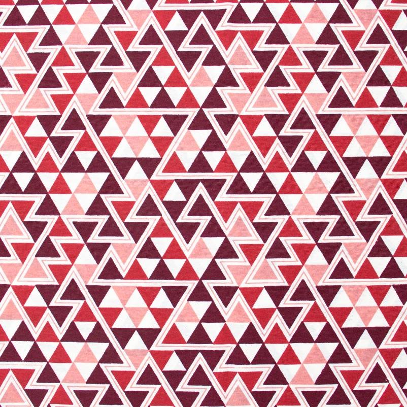 Tecido Gorgurão - Triângulos Vinho - 50cm x 140cm