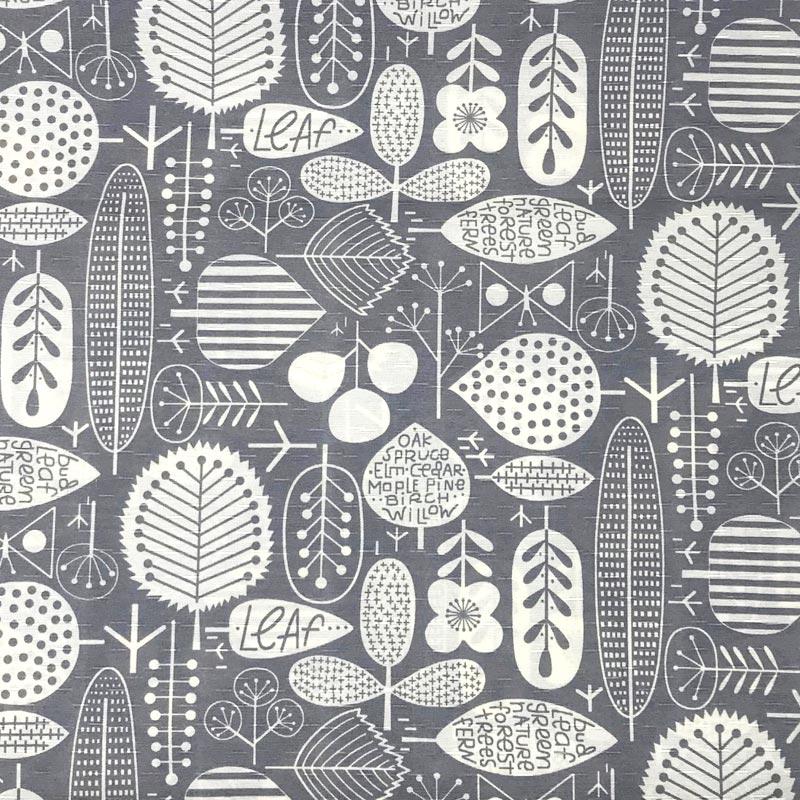 Tecido Gorgurinho - Floresta Cinza - 50cm x 150cm