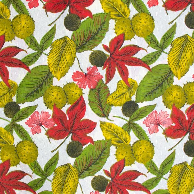 Tecido Gorgurinho - Folhas Caídas - 50cm x 150cm
