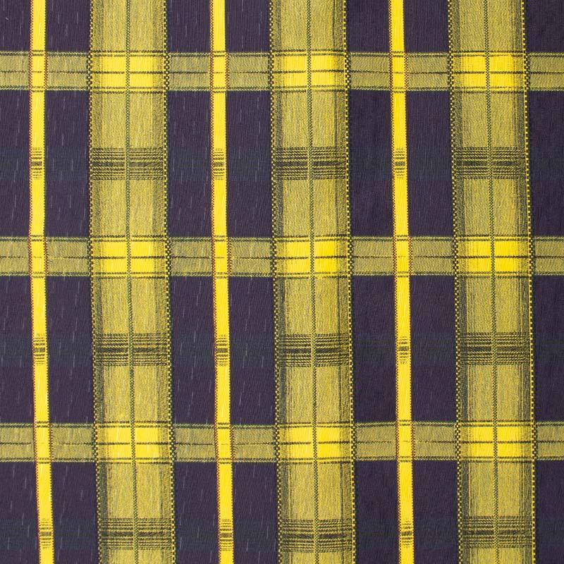 Tecido Gorgurinho - Xadrez Marinho com Amarelo - 50cm x 150cm