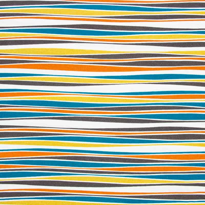 Tecido Impermeável Listrado - Colorido - 50cm X140cm
