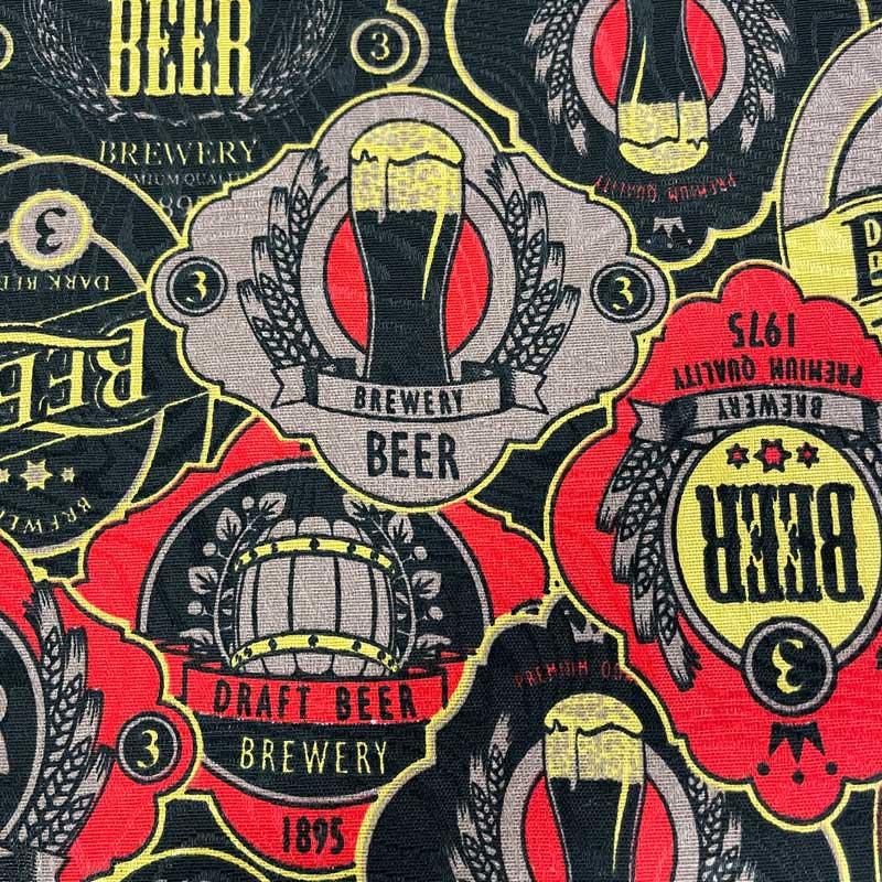 Tecido Jacquard - Beer Laranja - 50cm x 140cm