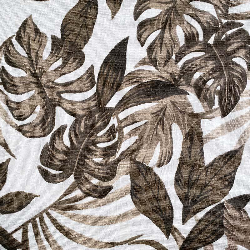 Tecido Jacquard - Costela de Adão Bege - 50cm x 140cm