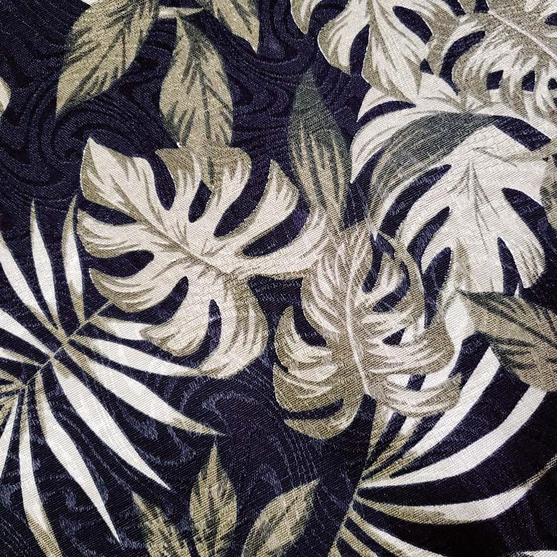 Tecido Jacquard - Costela de Adão Preto - 50cm x 140cm