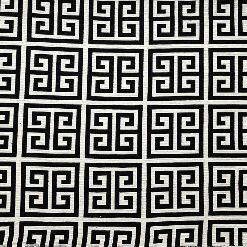 Tecido Jacquard Fio Tinto - Labirinto Preto - 50cm x 140cm