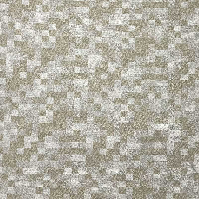 Tecido Jacquard Fio Tinto - Pixel Bege - 50cm x 140cm