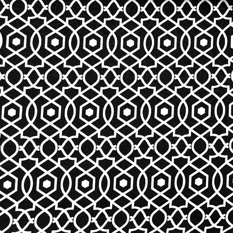 Tecido Jacquard - Geométrico Preto - 50cm x 140cm